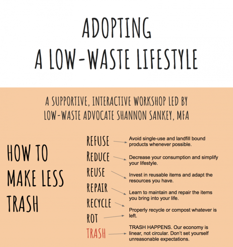 Adopting a Low-Waste Lifestyle, Shannon Sankey